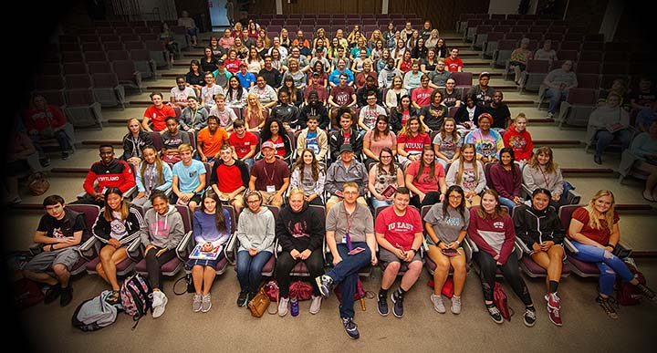 Supplied Photo: Members of the Class of 2022 attended the First Year Convocation held August 17.
