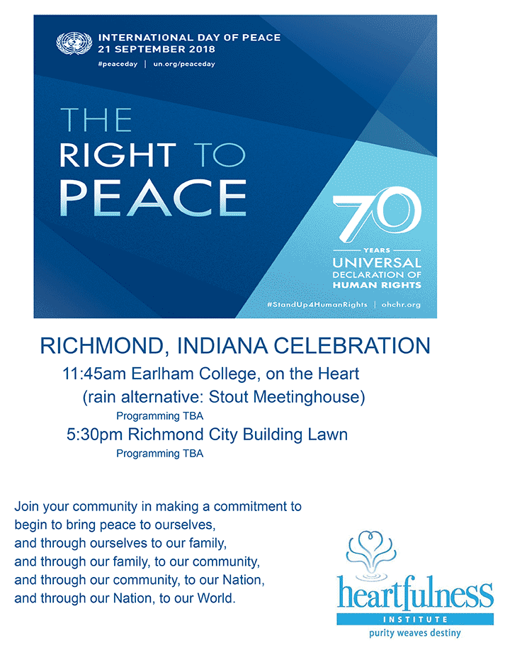 Supplied Poster: International Day of Peace