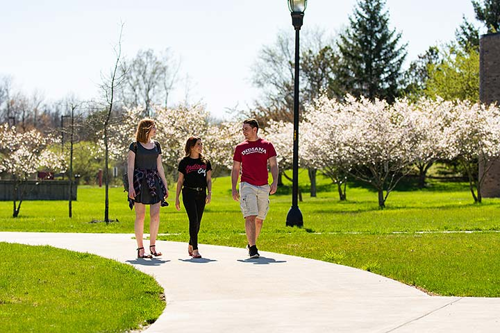 Supplied Photo: Students walk across the IU East campus. IU East welcomed its largest incoming class this fall.