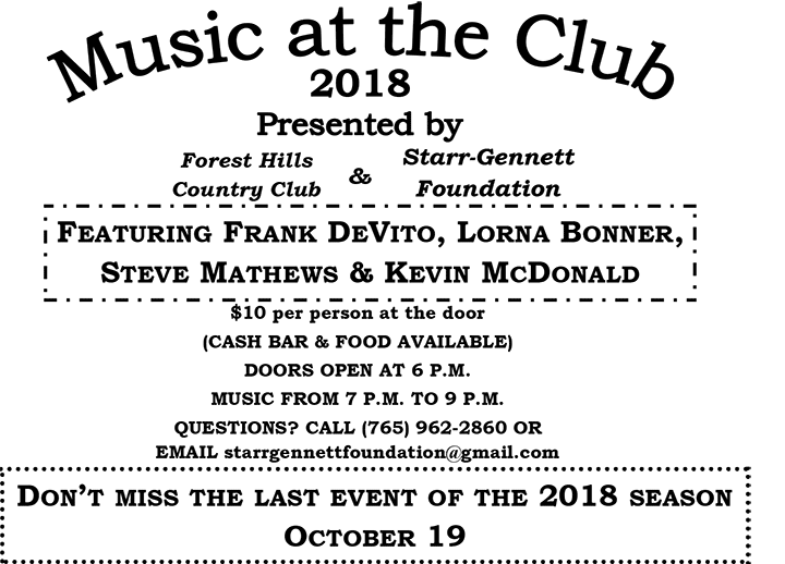 "Supplied Flyer: Last ""Music at the Club"""