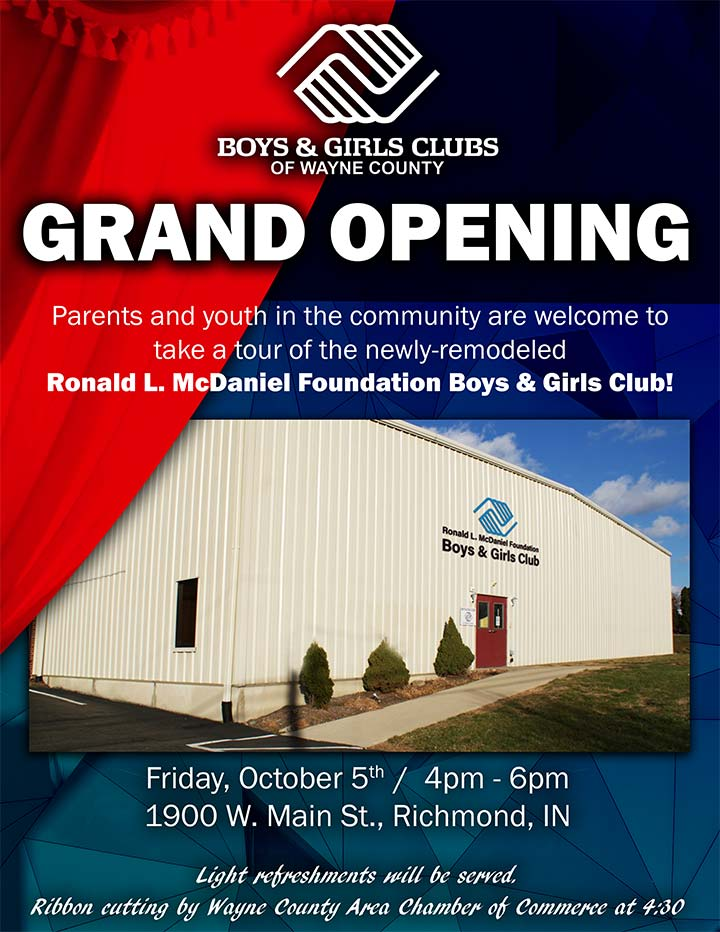 Supplied Flyer: Boys & Girls Clubs of Wayne County Open House