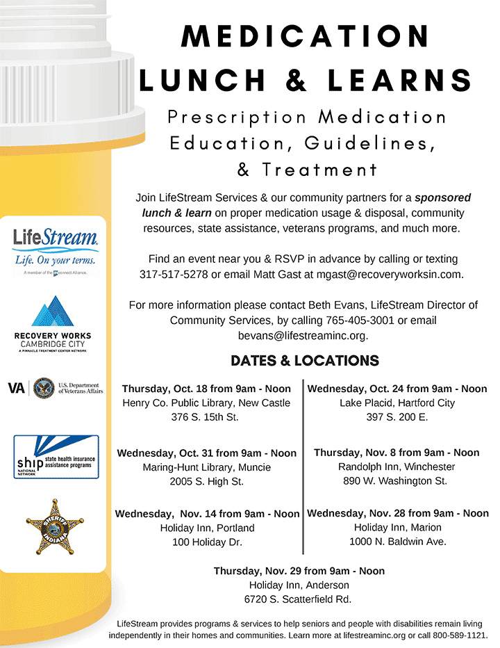 Supplied Flyer: Medication Lunch and Learn