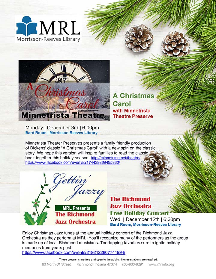 Supplied Flyer: MRL Holiday Programs