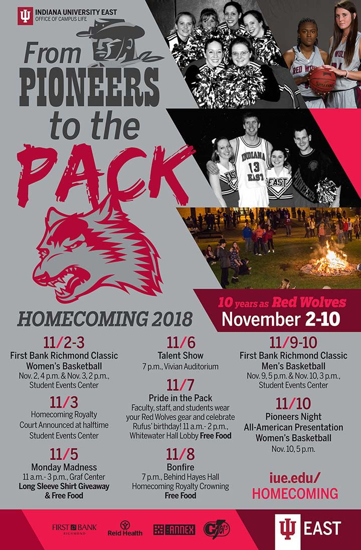 Supplied Flyer: IU East Homecoming Poster