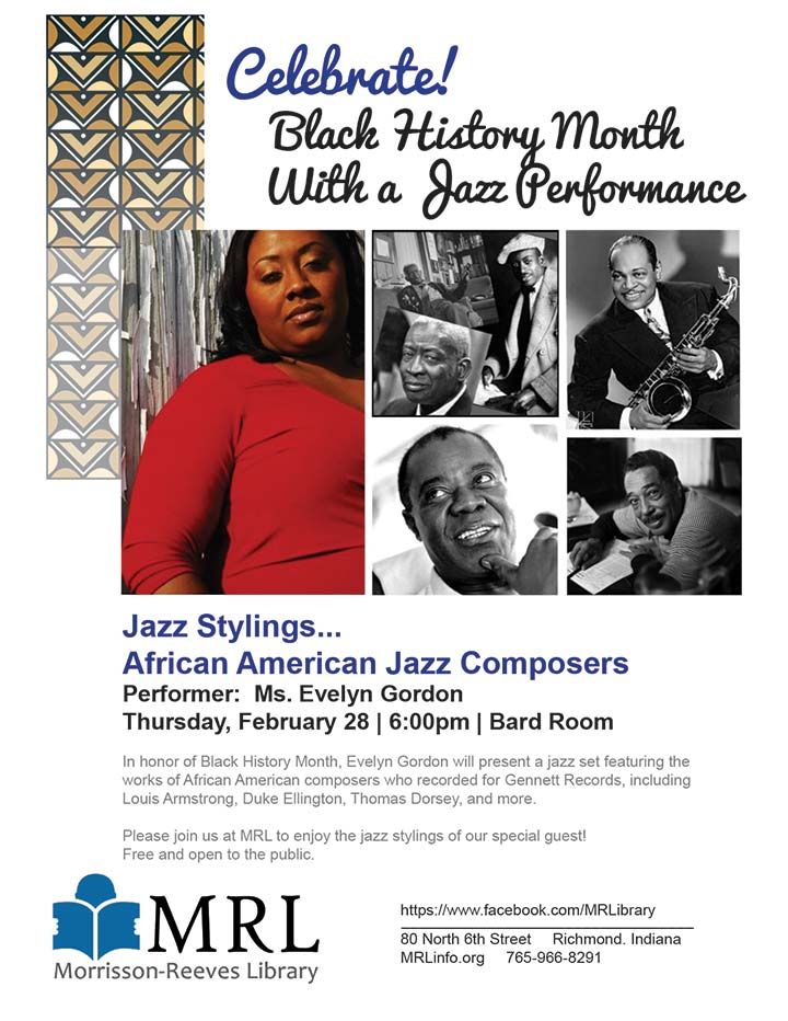 Supplied Flyer: Jazz Stylings... African American Jazz Composers
