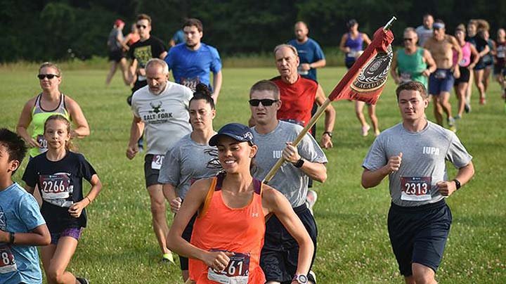 Supplied Photo: IU East's Run with the Wolves 5K attracted area runners and walkers for the annual race on July 20.