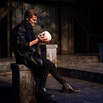 Supplied Photo: Hamlet with skull