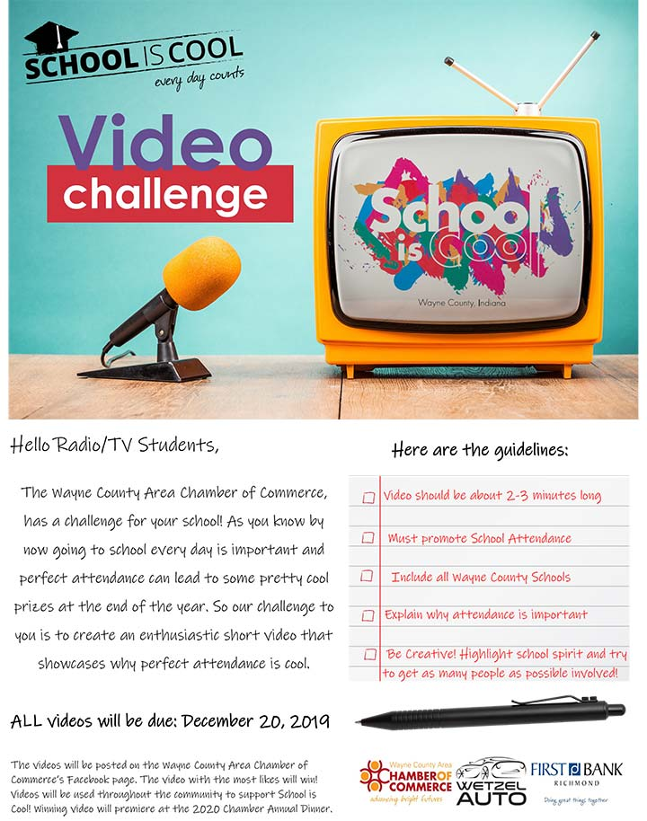 Supplied Flyer: School is Cool Video Contest