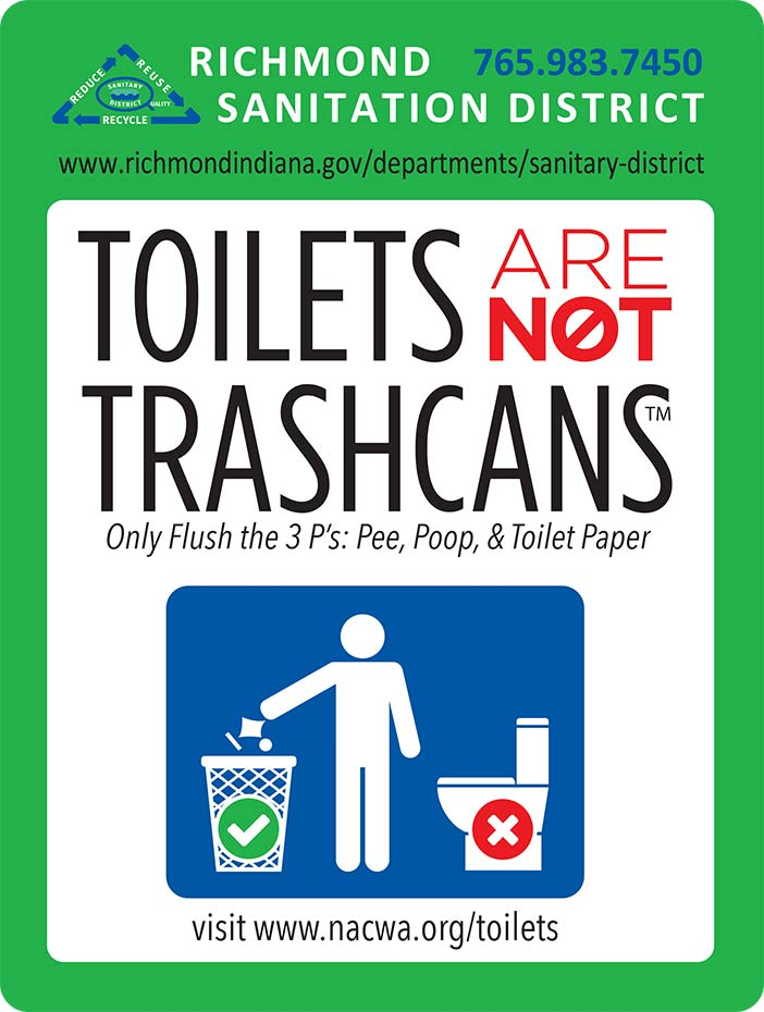 Supplied Poster: Toilets are NOT Trashcans