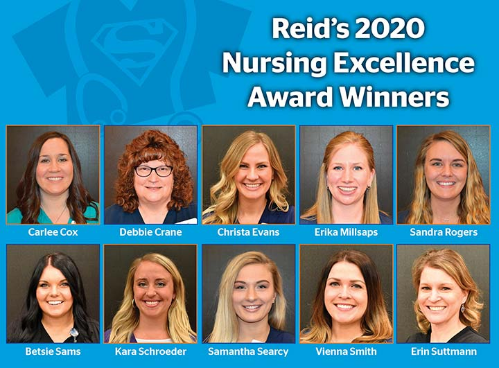 Supplied Graphic/Photos: Reid's 2020 Nursing Excellence Winners