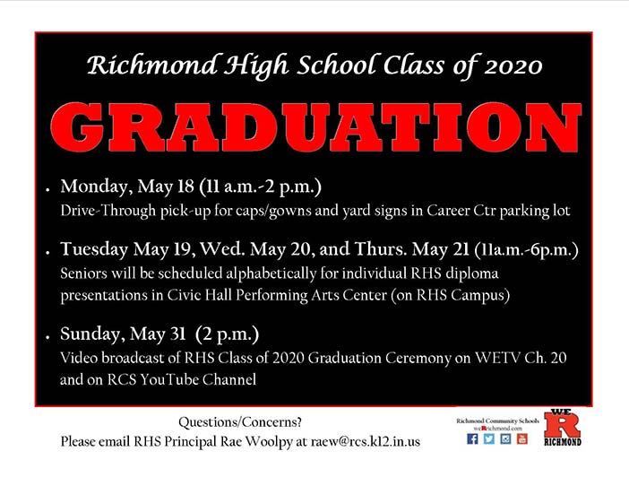 Supplied Graphic: RHS Graduation for 2020