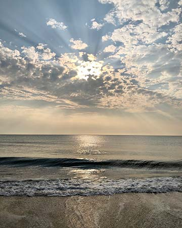 Supplied Photo: Rays of Light, Calm Surf
