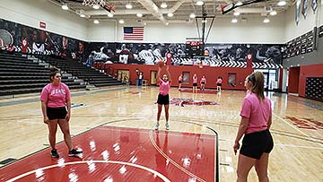 Supplied PHoto: Junior guard Aliyssa Neal of Morgantown, West Virginia, participates in the inaugural Red Wolves Free Throw-athon on February 26.