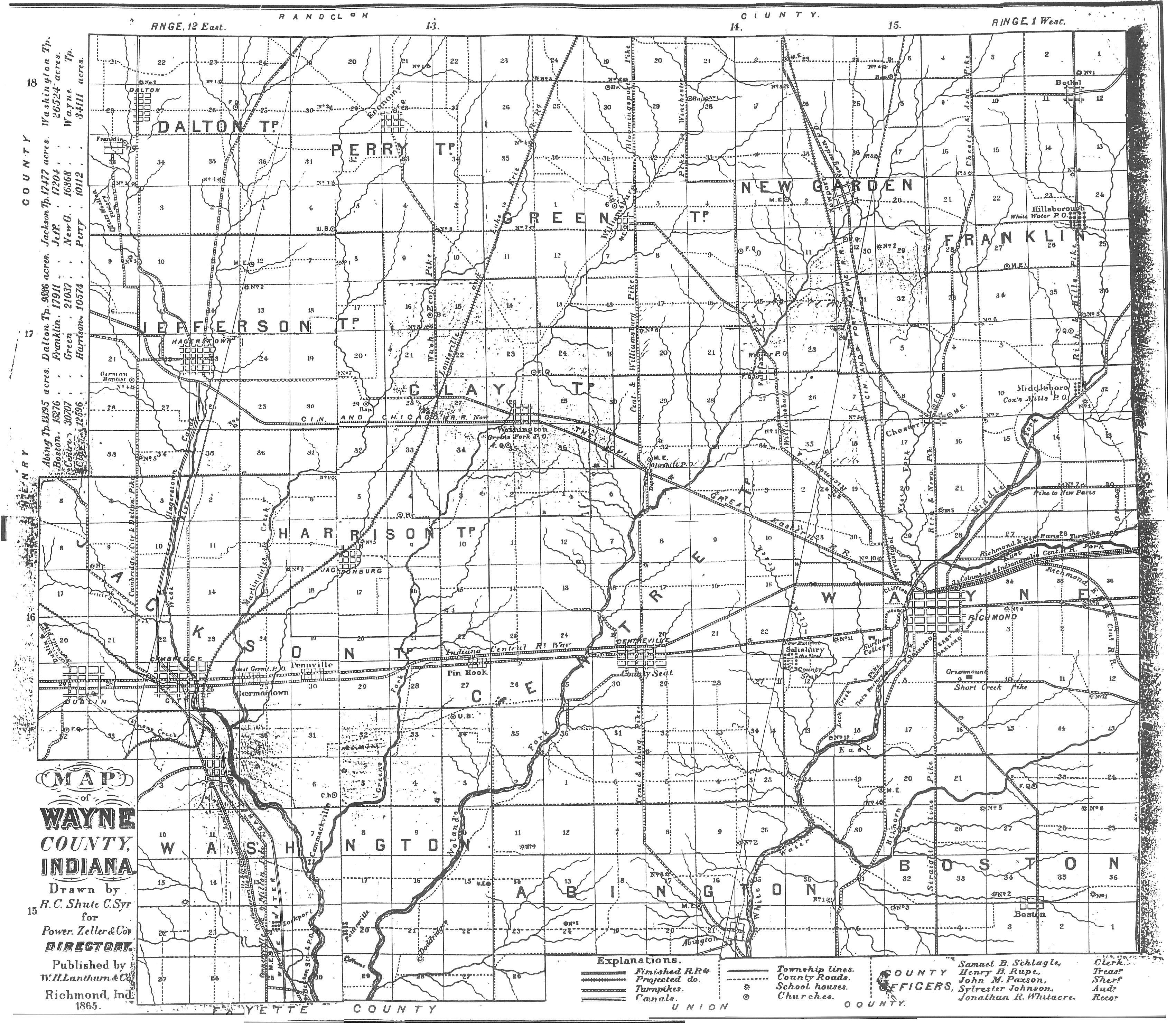 Maps for Richmond and Wayne County, Indiana Map Of Wayne County Ohio on