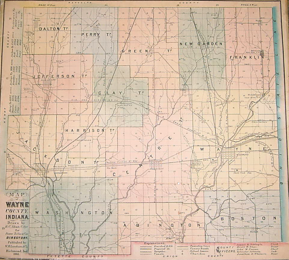 Jefferson County Indiana Map.Maps For Richmond And Wayne County Indiana