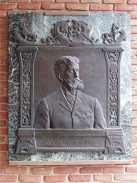 Arthur M. Reeves plaque by Janet Scudder