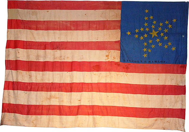 Lincoln - Hamlin Banner Flag
